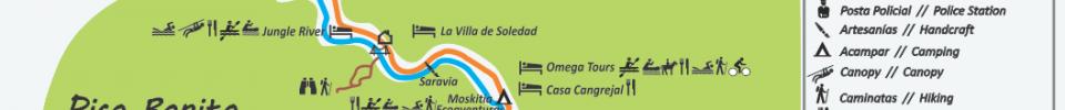 Cangrejal River in La Ceiba Map
