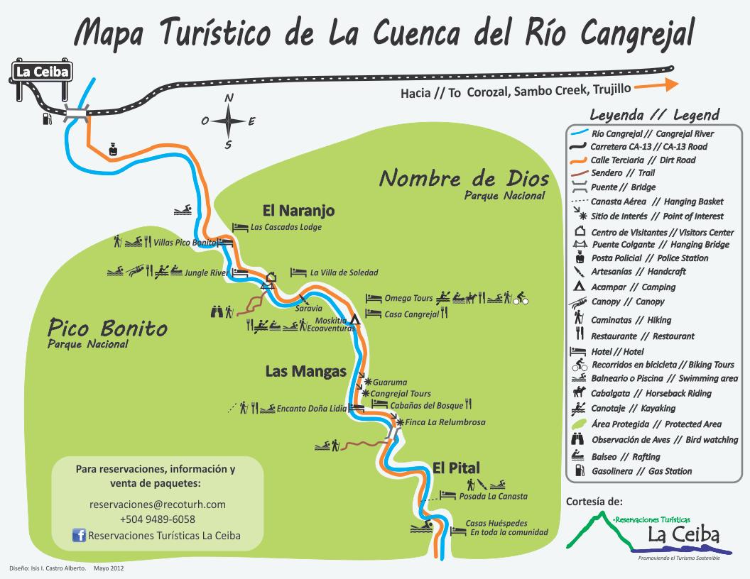 Cangrejal River Map